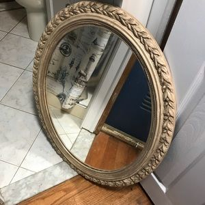 Other - Gold oval mirror